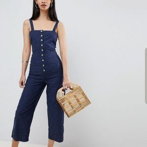 BNWT! ASOS DESIGN Denim Button Jumpsuit